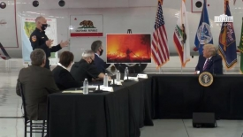 President Trump participates in a briefing on wildfires