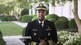 U.S. Surgeon General's message for college students who test positive for covid-19